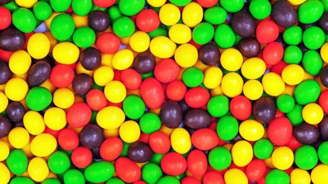 Multicolored candies for use as background.